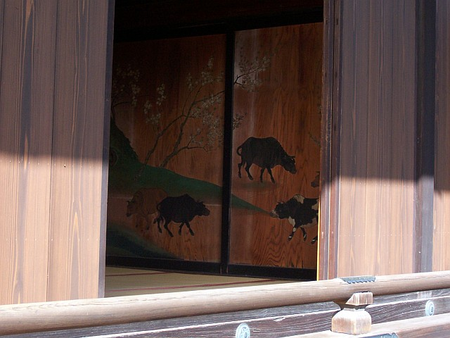 Imperial palace - Sliding door with paintings