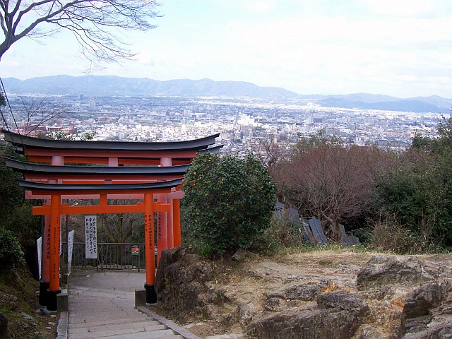 Fushimi Inari Shrine - View over Kyoto from the mountain
