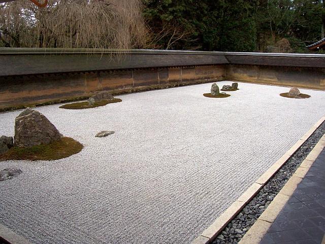Photo temple ryoan ji jardin sec for Jardin kyoto