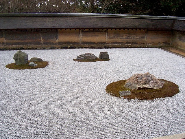 Ryoan-ji temple - Dry garden, right portion