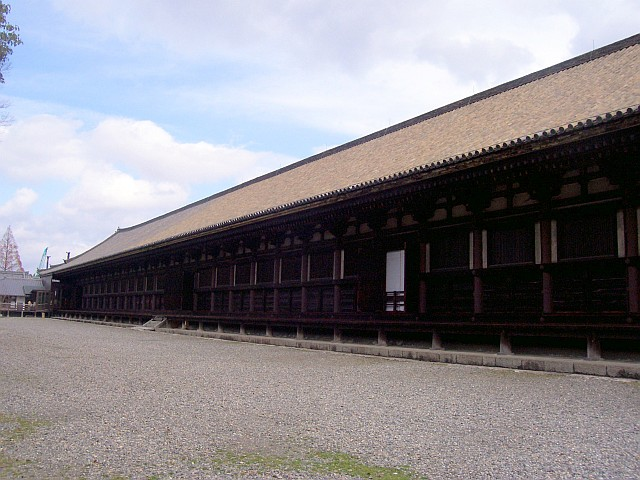 Sanjusangen temple, the longest wooden structure in the world