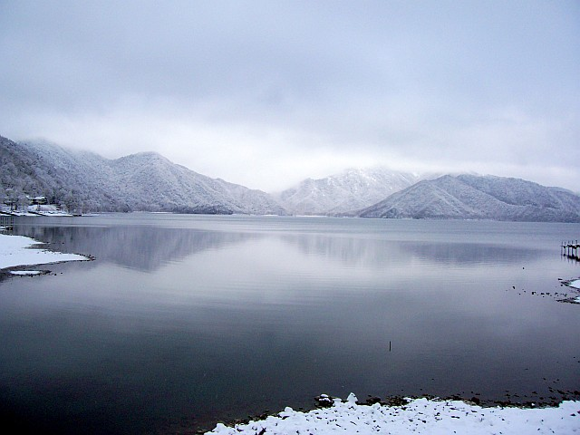 Near Nikko - Chuzenji lake at the end of winter