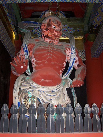 Toshogu shrine - Guardian, with the mouth closed
