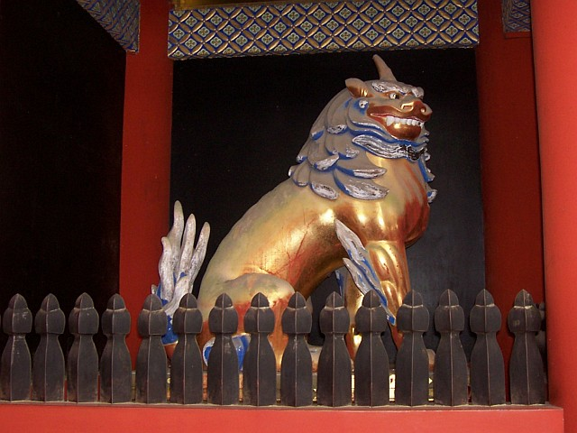 Toshogu shrine - Koma (half dog / half lion guardian)