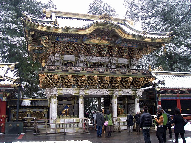 Toshogu shrine - Yomeimon gate, seen from the courtyard of the shrine