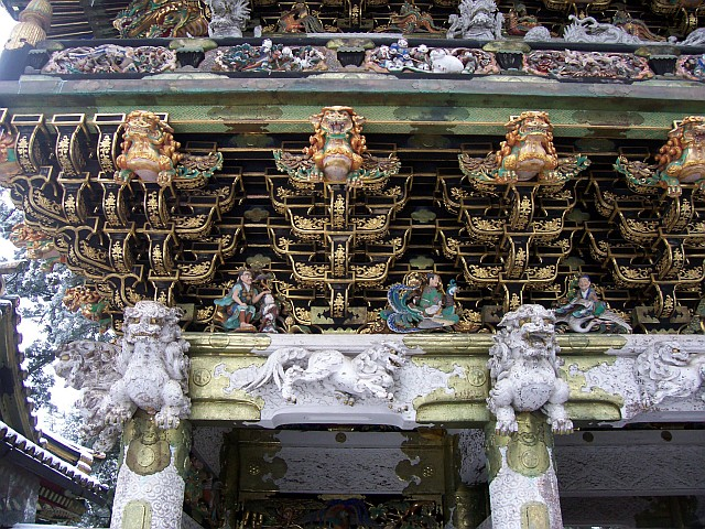 Toshogu shrine - Decorations of Yomeimo gate (1/3)