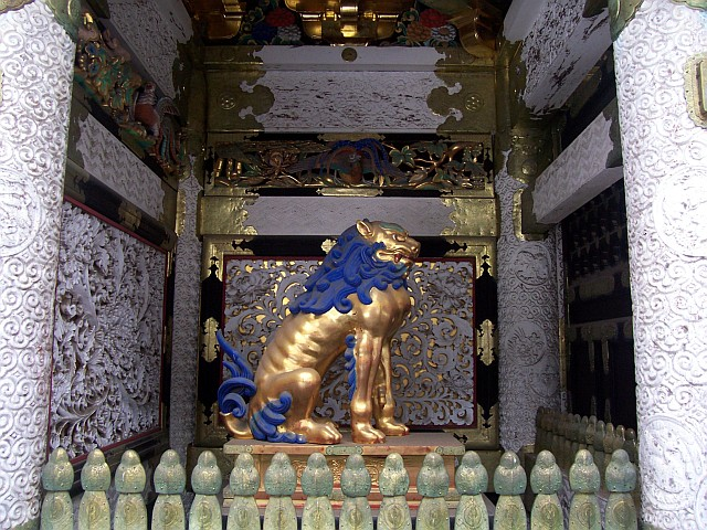 Toshogu shrine - Lion (guardian)