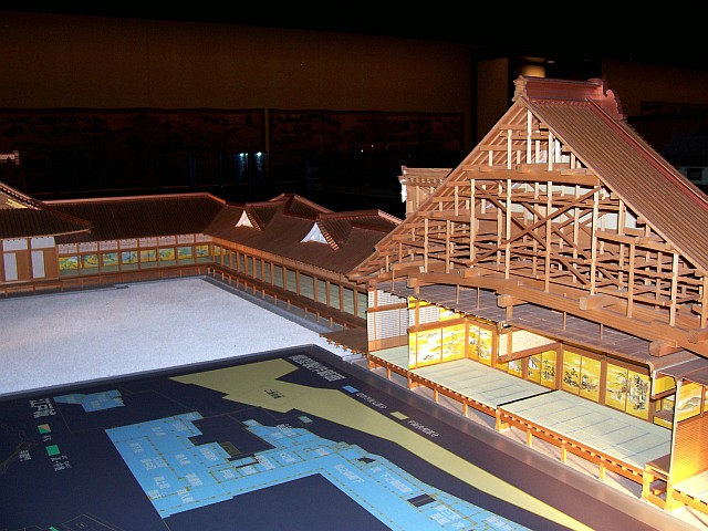 Edo-Tokyo museum - Model of a traditional wooden house in Tokyo