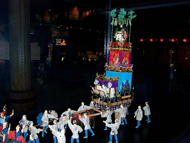 Edo-Tokyo museum - Model of a procession during a festival (1/4)