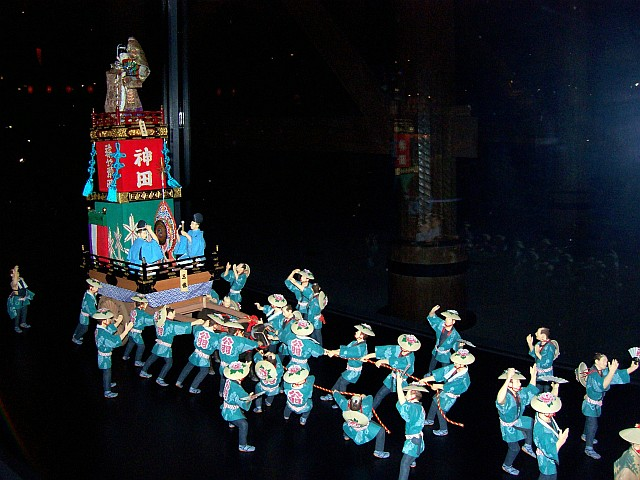 Edo-Tokyo museum - Model of a procession during a festival (3/4)