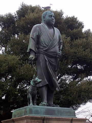 Uneo park - Statue of a leader of the Meiji Restoration