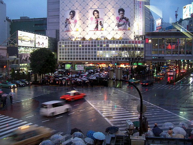 Large crossroad of shibuya