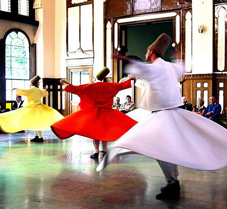 Whirling Dervishes at Sirkeci station