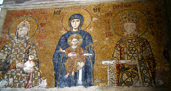Mosaic of the Virgin and Child in the Hagia Sophia