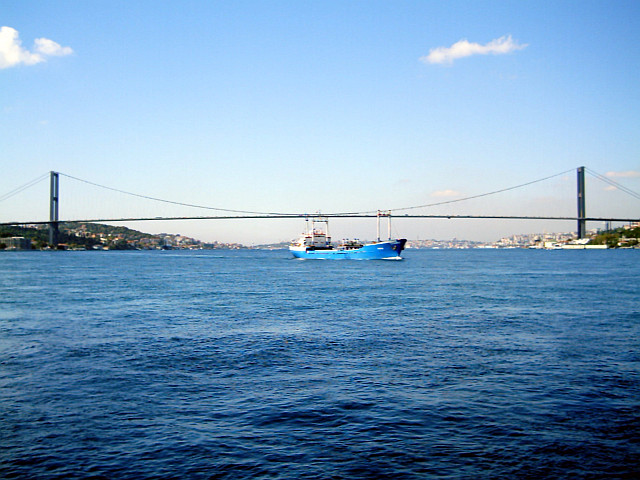 Intercontinental bridge spanning the Bosphorus