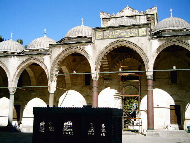 Süleymaniye Mosque, back seen from the courtyard