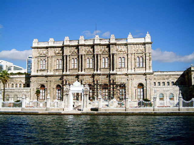 Dolmabahçe palace seen from the Bosphorus