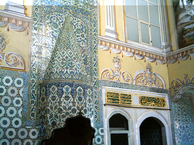 Topkapı palace - Decorated Hood over a fireplace in the harem