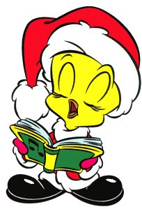 Tweety singing as Santa Claus