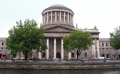 Dublin - Four courts, main courts building of Ireland