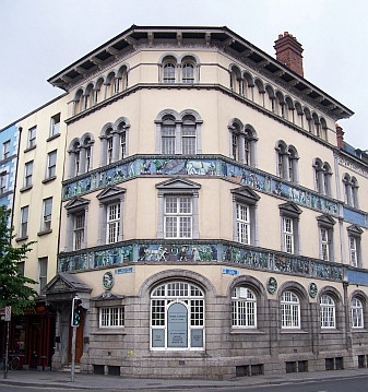 Dublin - House decorated with friezes (on a bank of the Liffey)