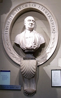 St. Patrick cathedral - Bust of Jonathan Swift