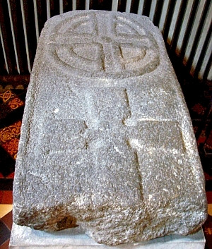 St. Patrick cathedral - Tombstone with Christian and Celtic symbols