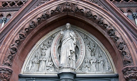 Saint Augustin church - Tympanum