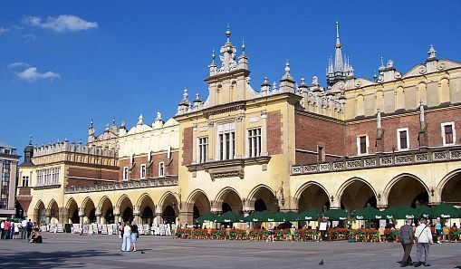 Place du marché de Cracovie - Hall aux draps