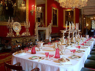 Chatsworth house and its park for Salle a manger baroque