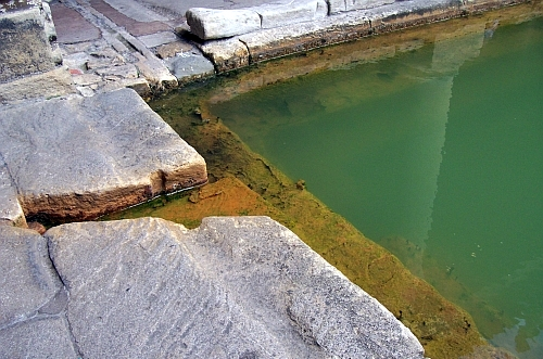 Roman baths - Water outlet