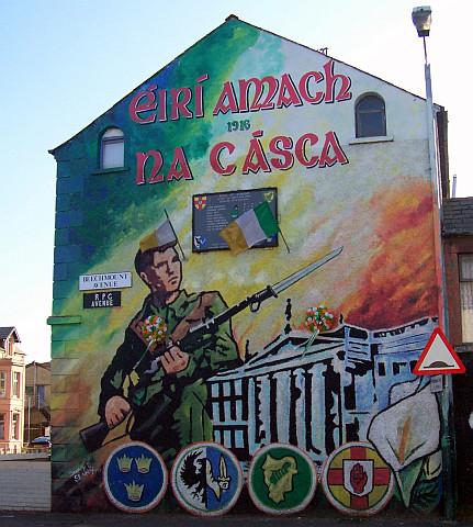 Photo belfast peinture murale c t catholique for Mural irlande