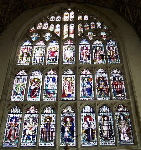 Canterbury Cathedral - Stained glass windows representing the kings of England