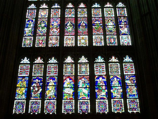 Canterbury cathedral - Several stained glass windows