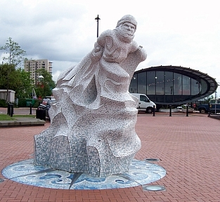 Sculpture at Cardiff bay