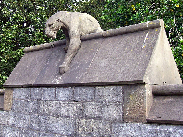 Cardiff castle - Animal wall, panther