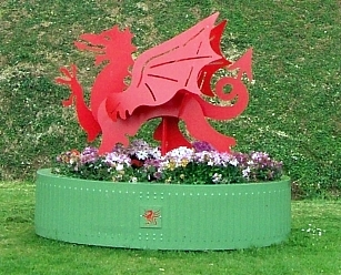 Cardiff castle - Red dragon