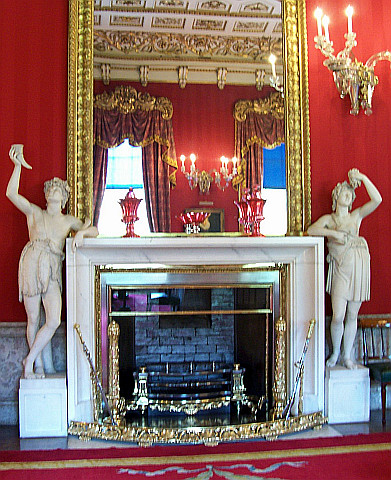 Chatsworth house - Fireplace in the dining room