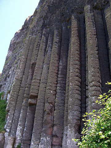Giant's causeway - Organ carved by erosion