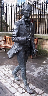 Edinburgh - Statue of the poet Robert Fergusson