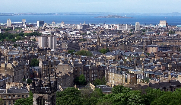 Calton hill - View over the city