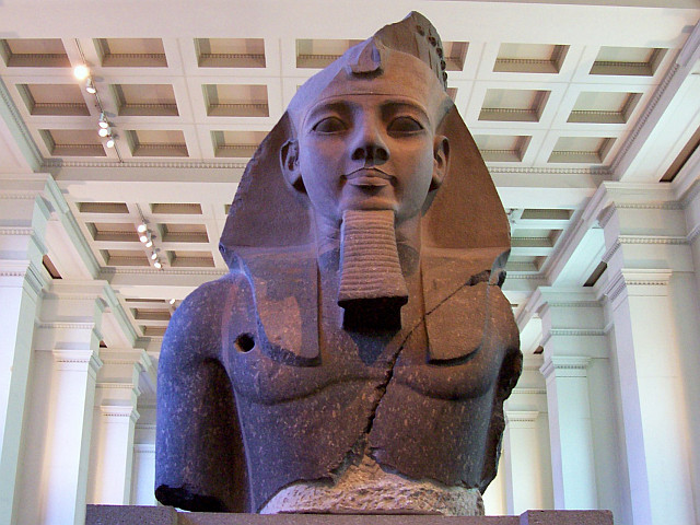 British museum - Bust of the colossal statue of Ramses II