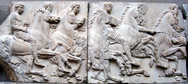 British museum - Part of the frieze of the Parthenon in Athens