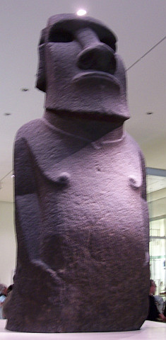 British museum - Moai statue from Easter Island