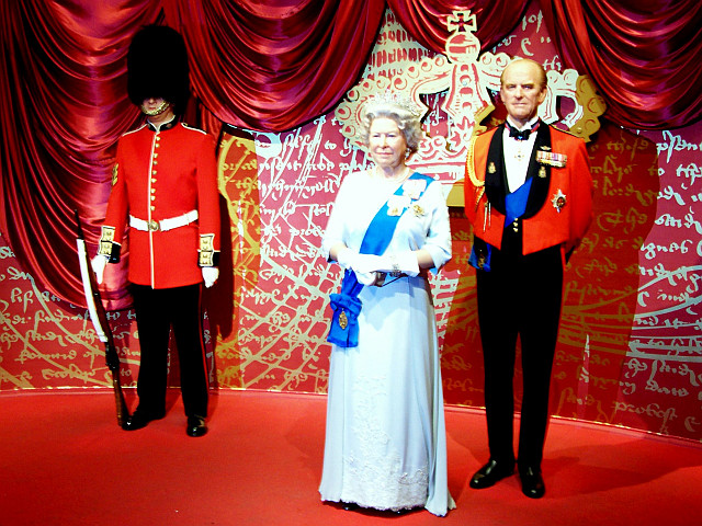 Madame Tussaud's museum - Royal familly's wax figures
