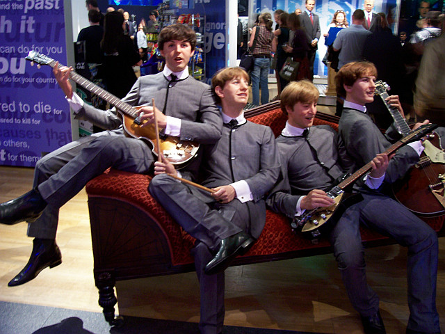Madame Tussaud's museum - Beatles' wax figures