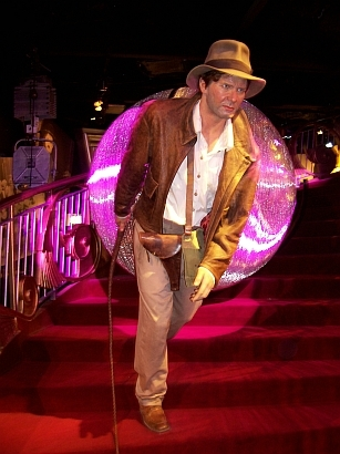 Madame Tussaud's museum - Harrison Ford featuring Indiana Jones' wax figure