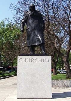 Londres - Statue de Winston Churchill