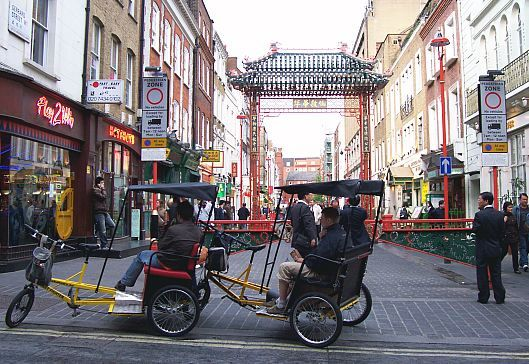 Gerrard street - the Chinese district in London