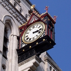 Inns Court - Clock of the courthouse